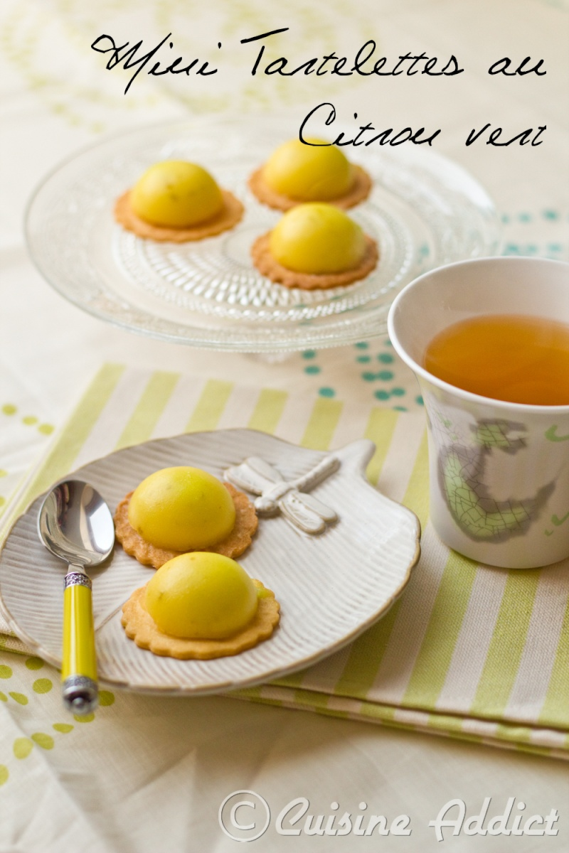 Mini tartelettes au citron vert cuisine addict for Cuisine addict