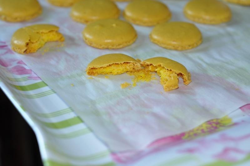 macarons secs et friables
