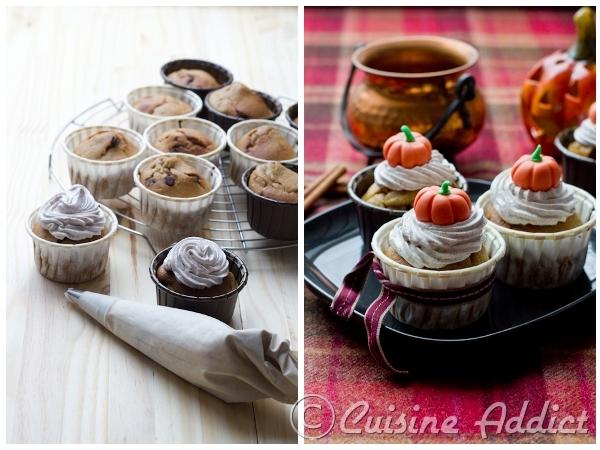Cupcakes Citrouille & Chocolat, Glaçage crème au beurre à la Cannelle