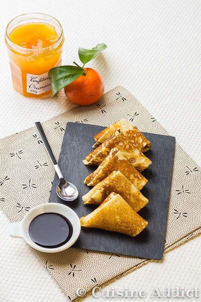 Samoussas de Crêpes aux Agrumes & Sauce Chocolat